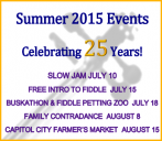 SUMMER EVENTS 2015